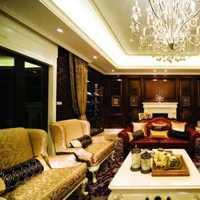 客厅富裕型茶几灯具装修效果图
