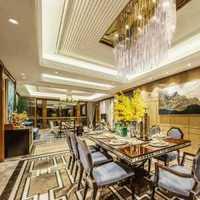 餐厅灯具富裕型新房装修效果图