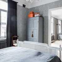 卧室墙布素色装修效果图