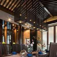 餐厅吊灯简欧餐厅背景墙装修效果图