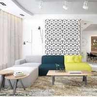 天下锦城美式卧室电视背景墙效果图