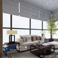 台灯餐具沙发背景墙样板房装修效果图