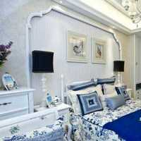 窗帘壁纸卧室美式乡村装修效果图