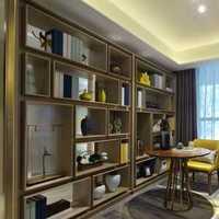 二居书柜中式书房装修效果图