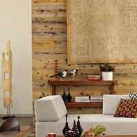現代風格躍層客廳沙發背景墻效果圖
