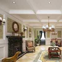 美式乡村温馨暖色调客厅装修效果图