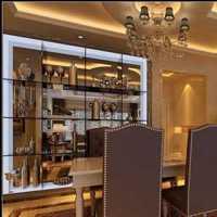 现代豪华别墅餐厅客厅隔断装修效果图