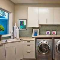 厨房红色橱柜现代小户型装修效果图