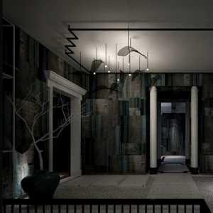 床头灯卧室床头背景墙三居卧室窗帘效果图