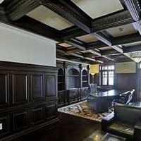 新中式餐厅吊顶盆栽装修效果图