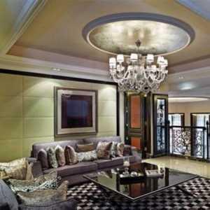 簡約風格綠色120平米臥室燈光效果圖