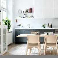 现代简约时尚厨房美装修效果图
