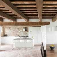 美式开放式厨房餐厅吊顶装修效果图