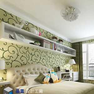 中式三居室玄关壁纸效果图
