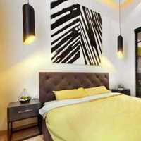 沙发别墅卧室背景墙绿色装修效果图
