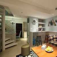 地中海蓝色客厅背景墙白色装修效果图