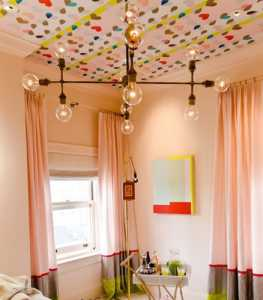 窗帘装修效果图,紫色沙发效果图设计
