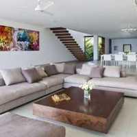 现代客厅家具客厅窗帘灯具装修效果图