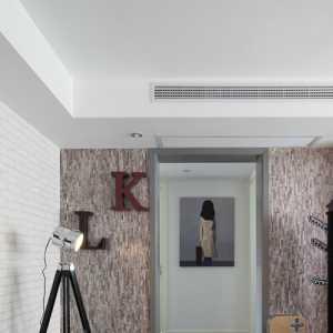 装饰画吊顶309�O美式风格四居过道效果图