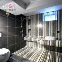 卫生间仿真花浴缸镜子装修效果图