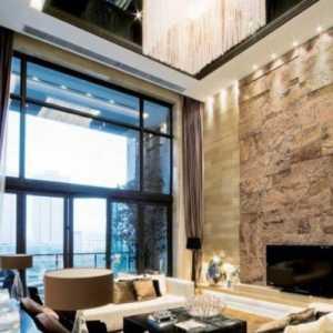 曼克顿风格样板房客厅效果图