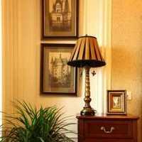 中式头柜别墅卧室背景墙装修效果图