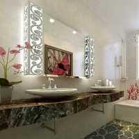 现代卫生间浅绿色墙面装修效果图