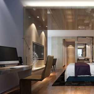簡裝客廳藍色沙發