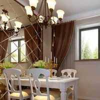 欧式古典餐厅原木色餐台装修效果图