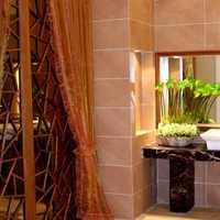 现代别墅卫生间黑白色窗帘装修效果图