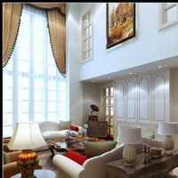 欧式客厅吊顶样板房效果图