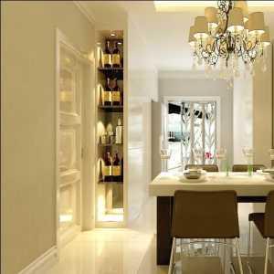 浪漫复古简欧风格餐厅酒柜组合柜效果图
