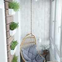 窗帘创意家居阳台小户型装修效果图