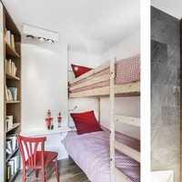 绿色儿童房现代三居装修效果图