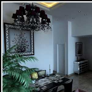 白色系亮丽家装 时尚大气客厅与餐厅