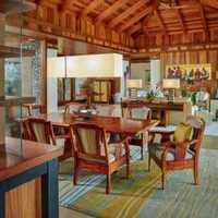 现代中式装修配客厅什么窗帘效果图