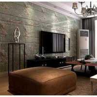 室内影视墙壁画效果图