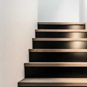 简洁现代简约别墅楼梯中性色