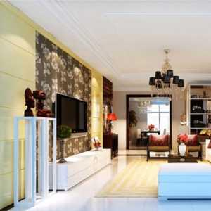 东南亚风格一居室卧室窗帘效果图