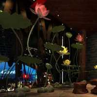 蓝色素雅美式餐厅装修效果图