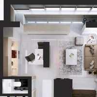现代客厅复古墙纸装修效果图