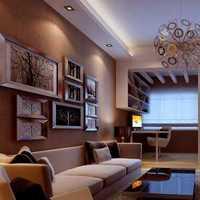 混搭客厅背景墙黄色梳妆台装修效果图