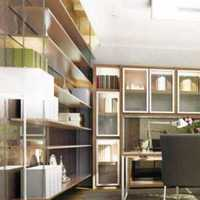书房书架带写字桌装修效果图
