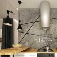 现代简约橱柜三居室厨房装修效果图