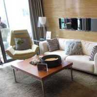 茶几客厅三居真皮沙发装修效果图