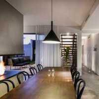 现代简约餐厅移动门装修效果图