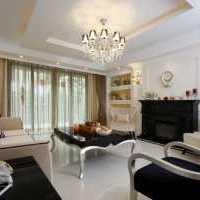 暖色调三室一厅现代客厅装修效果图