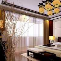 水晶吊灯双人卧室简欧装修效果图