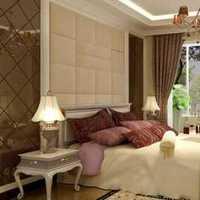 卧室背景墙吊灯头灯装修效果图
