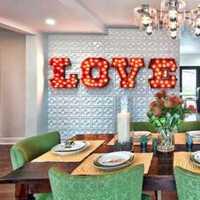 餐厅吊灯富裕型壁纸装修效果图